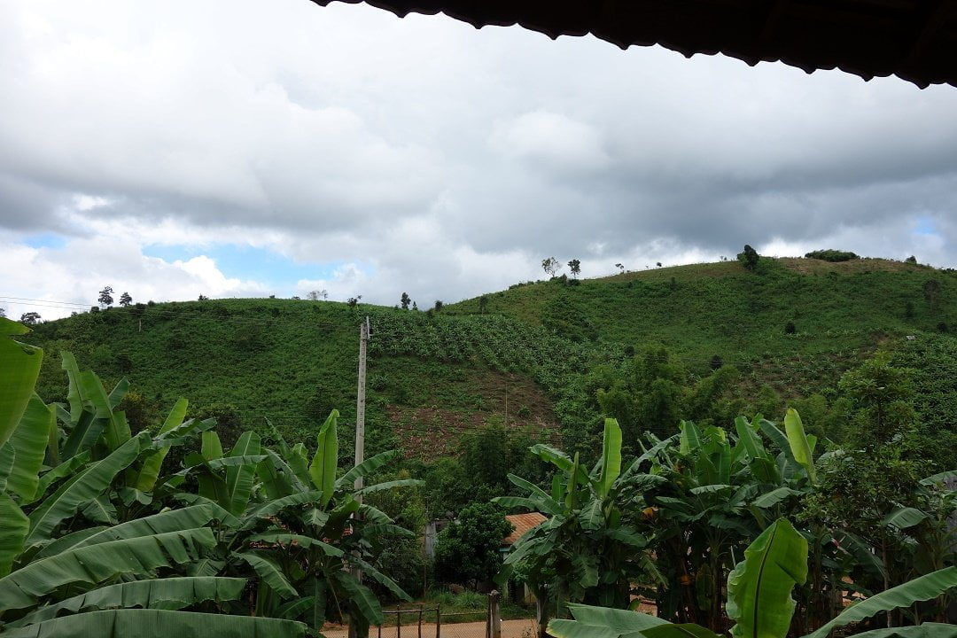 View from the Homestay in Kon Ktu Village