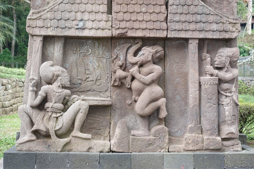 Carvings in Candy Sukuh, Gunung Lawu, Java, Indonesia