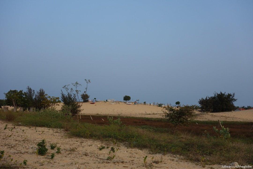 Christian cemetery at Manalkadu Beach, Jaffna places to visit, Sri Lanka
