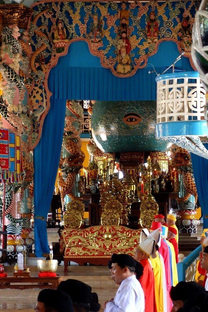During mass, Cao Dai Temple, Tay Ninh, Vietnam 1