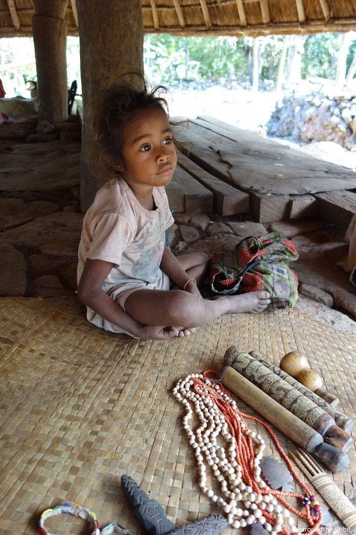 Little girl and handcraft souvenirs, None, Timor, Indonesia