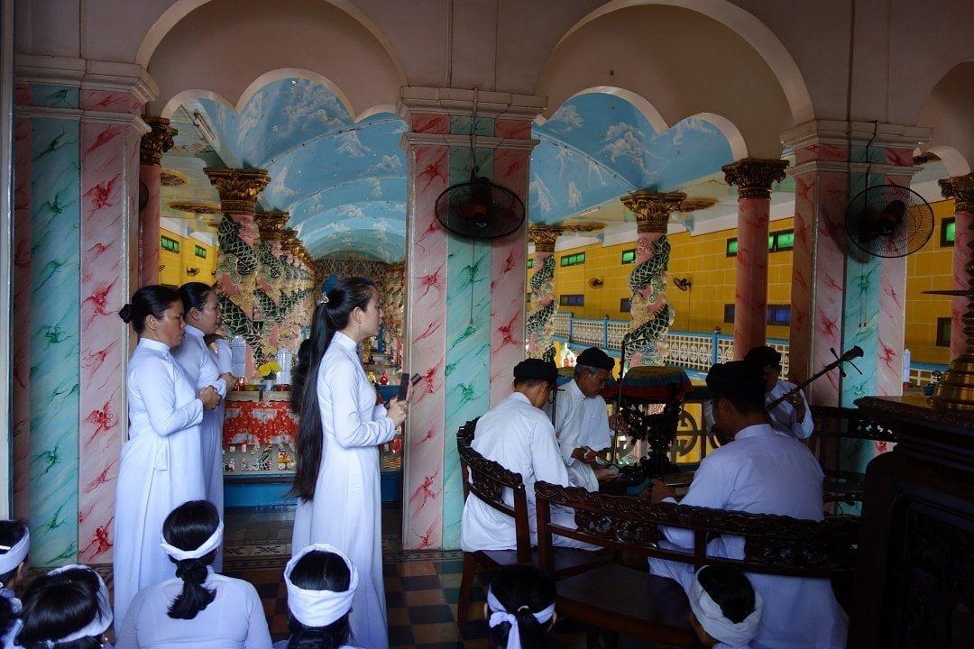 Musicians, Cao Dai Temple, Tay Ninh Vietnam