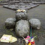 Offering in Candi Cetho, Gunung Lawu, Java, Indonesia