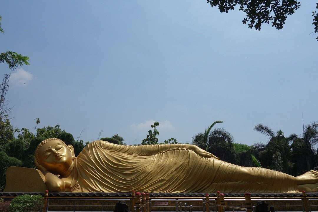 Sleeping Buddha, Maha Vihara Mojopahit, Java, Indonesia