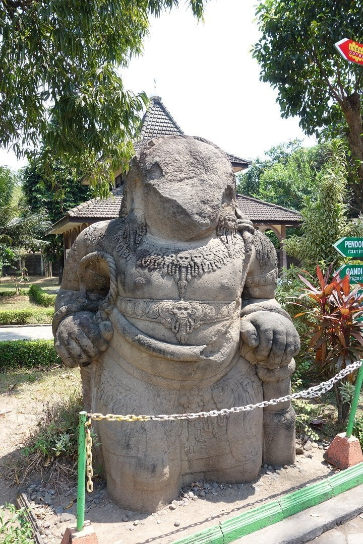 Statue in Trowulan Museum, Java, Indonesia
