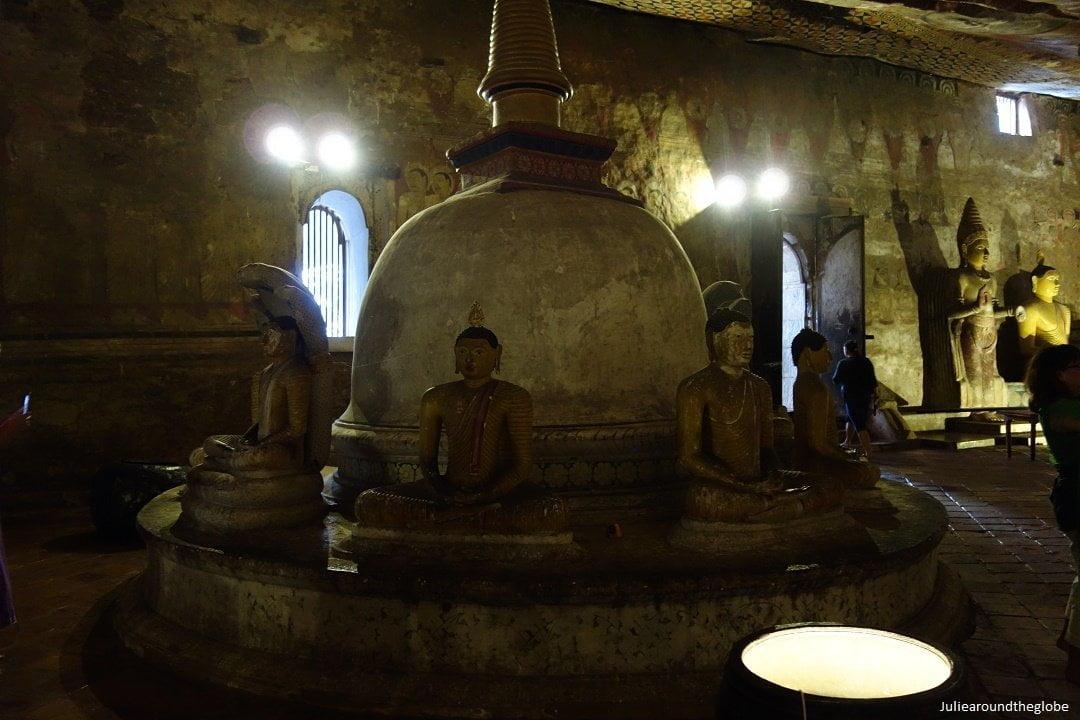 Stupa cave 2, Dambulla golden caves temple, Sri Lanka