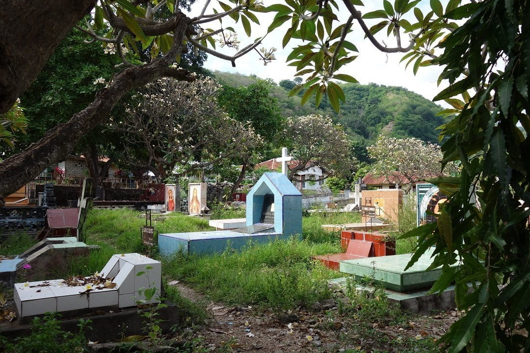 The cemertery behind the church, Sikka, Flores, Indonesia