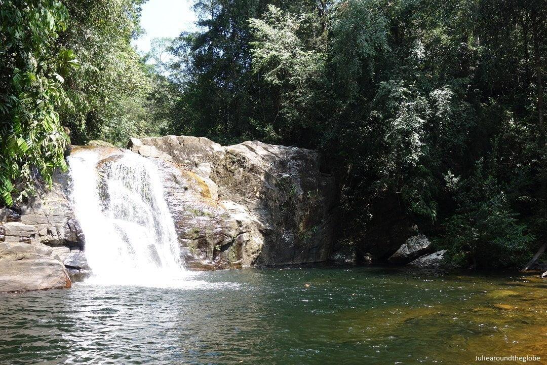 The waterfall, Sinharaja Rain Forest, Sri Lanka