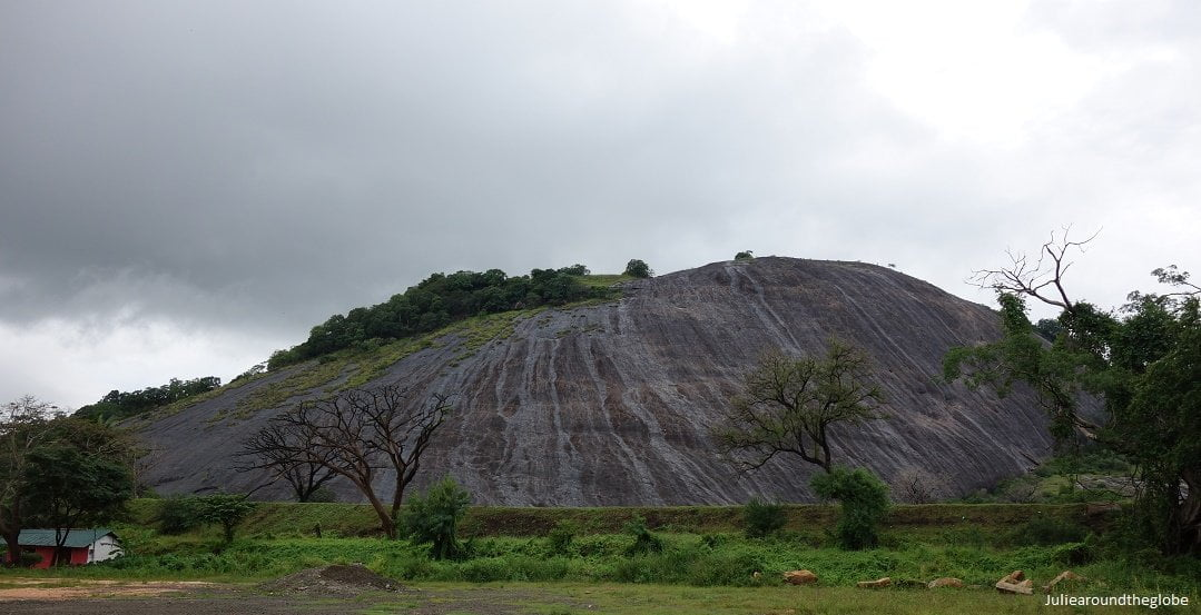 View of the cave from the side, Dambulla, Sri Lanka