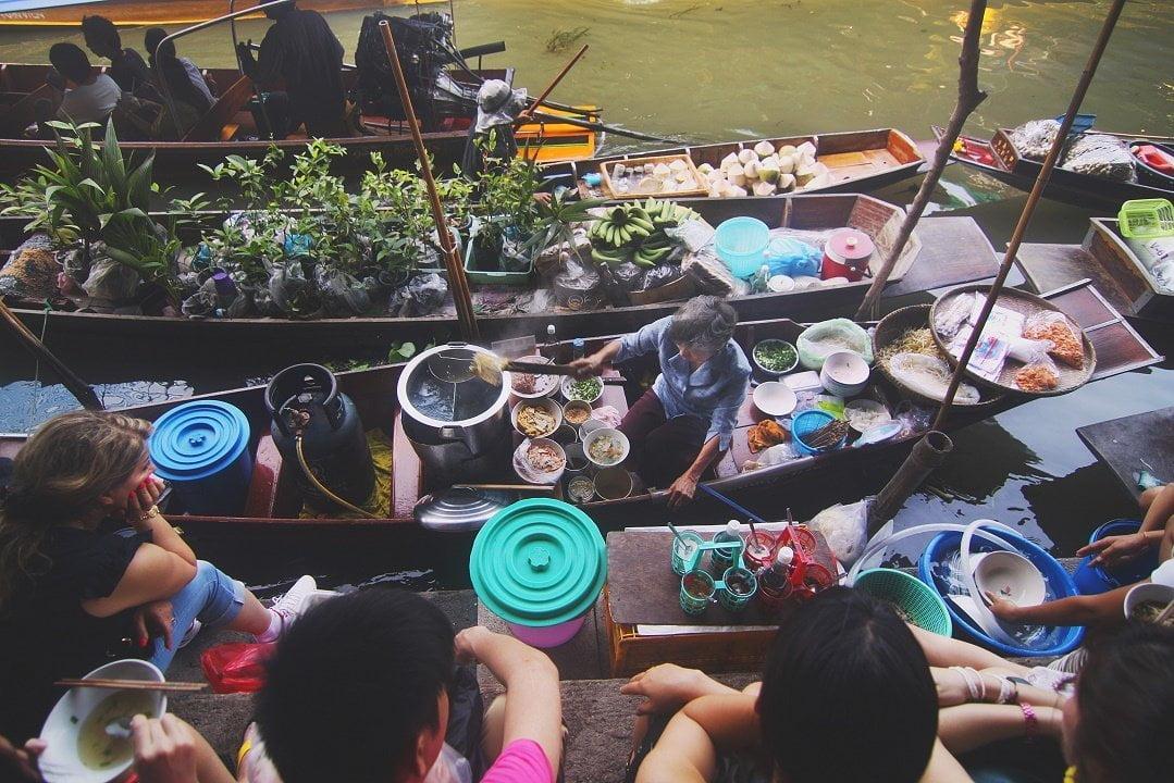 Floating restaurant, Thailand
