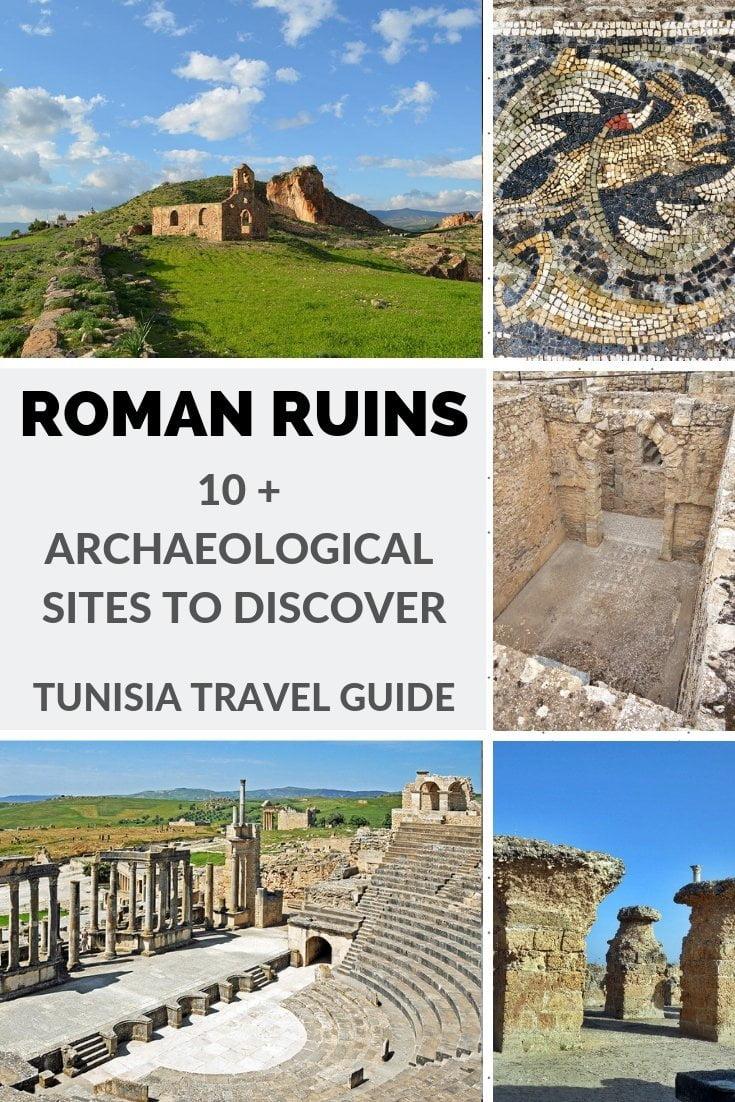 Roman ruins in Tunisa