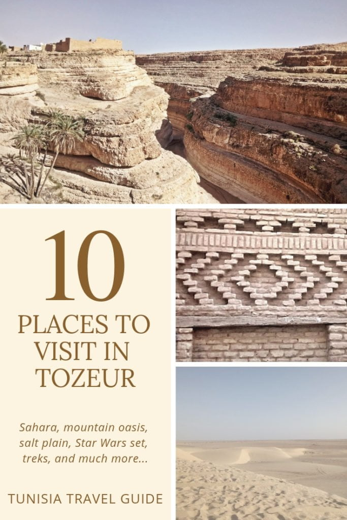 Discover 10 amazing places in Tozeur, Tunisia. From trekking to mountain  oasis, to exploring Star Wars sets in the Sahara, this guide got you covered. #adventure #travel #africa #sahara #mountain