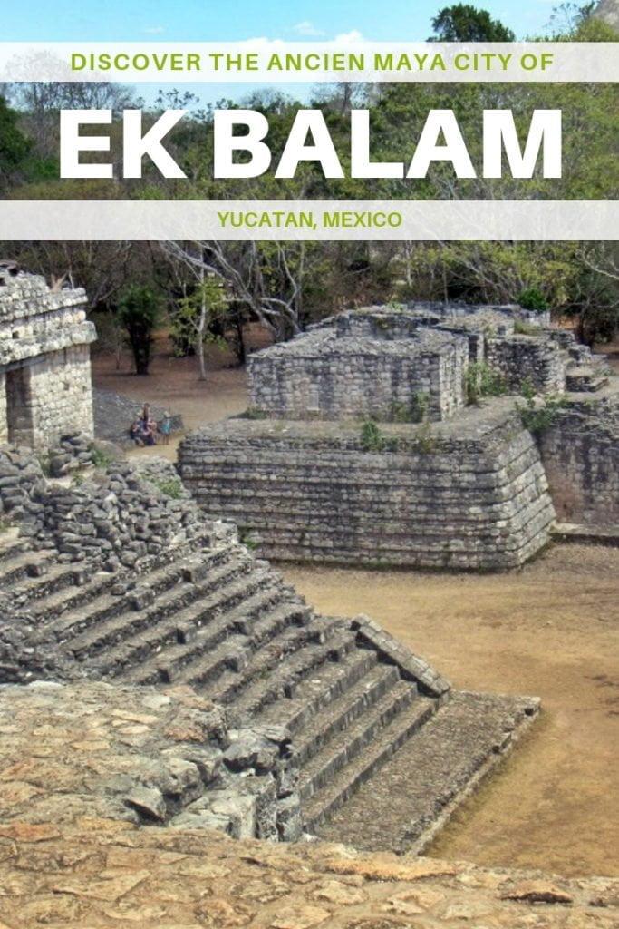 Discover Ek Balam, Maya ruins in Yucatan, near Valladolid. Take a daytrip from Cancun or Playa del Carmen to visit this ancient city. #travel #mexico #ruins