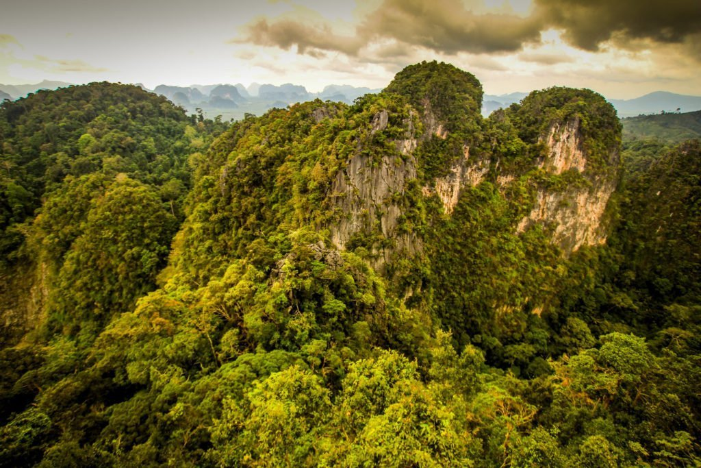 View from the Tiger Cave Temple in Krabi, Thailand
