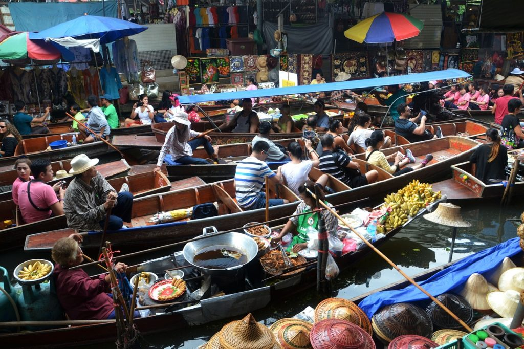 bangkok, floating market