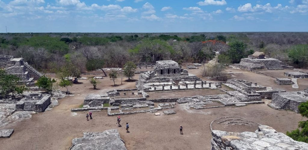 View from the top of the pyramid, Mayapan