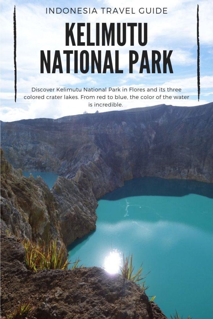 Volcanic Lake in kelimutu national park, Flores, Indonesia