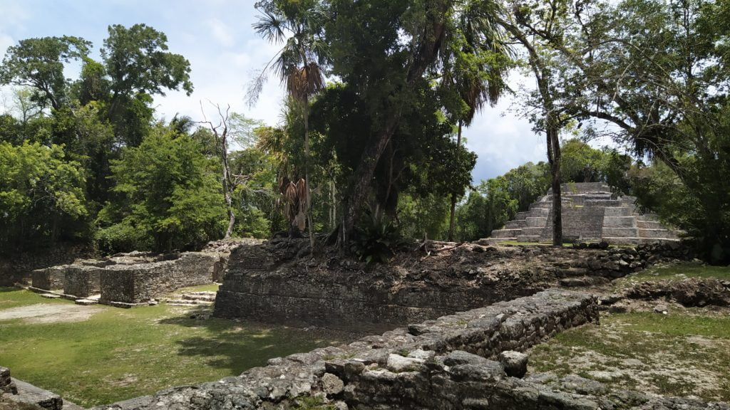 The Jaguar Temple, Maya ruins, Lamanai, Belize
