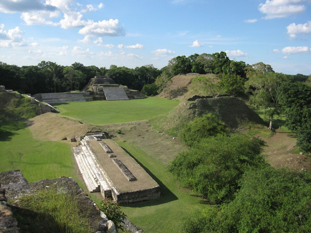 Altun Ha, Maya ruins surrounded by jungle in Belize