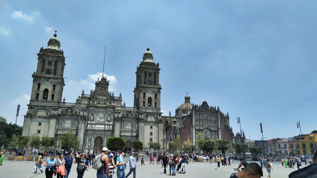 Metropolitan Cathedral and Zocalo, Mexico City