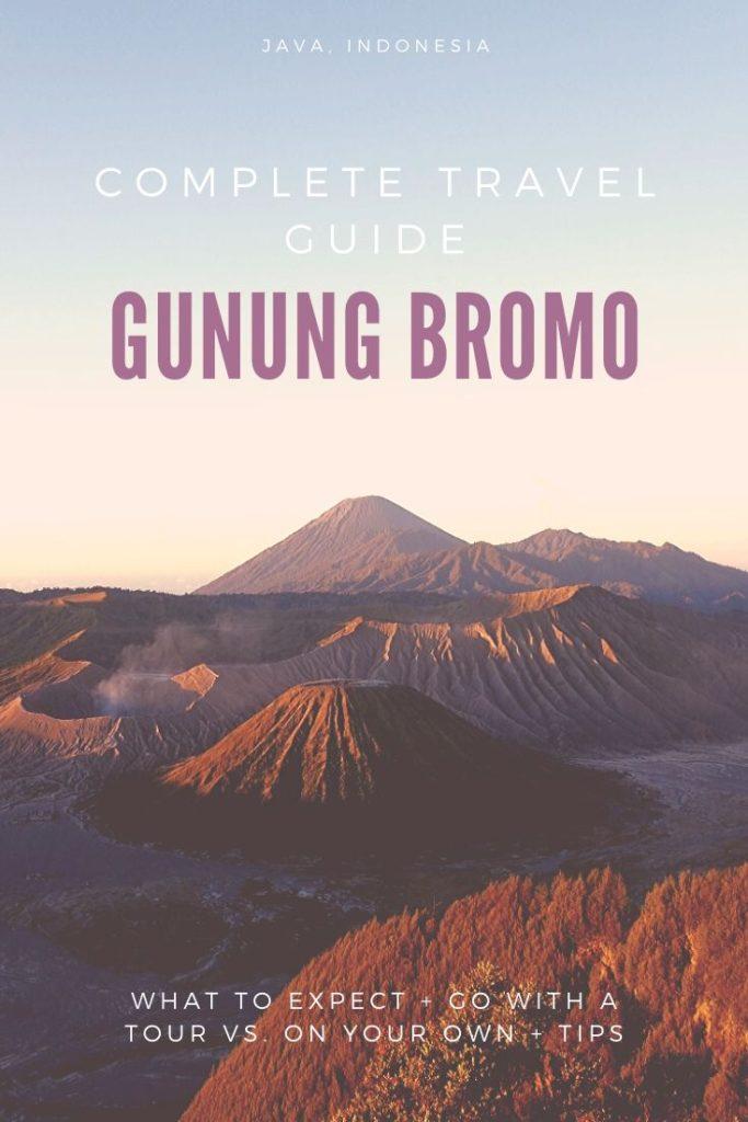 Sun rise over Gunung Bromo in Java, Indonesia