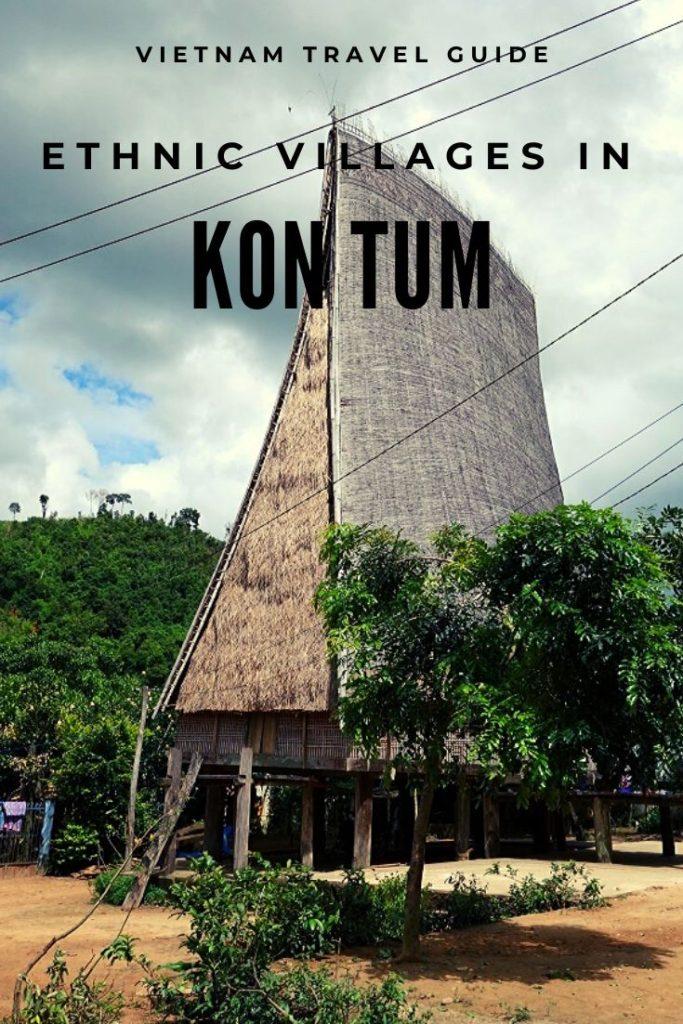 Communal house near Kon Tum, Vietnam