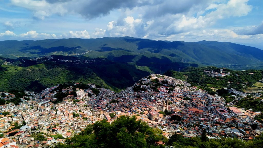 View over Taxco from the Christ Statue
