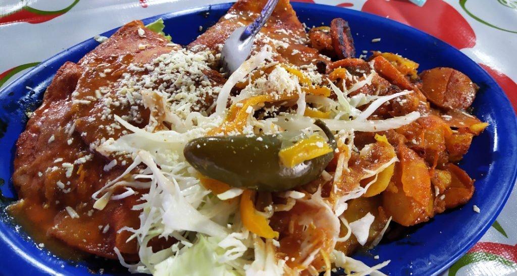 Enchiladas in Patzcuaro, Michoacan