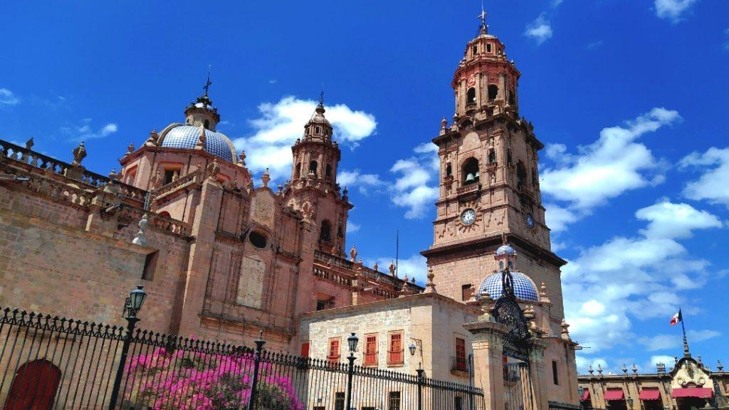 Morelia Cathedral, Michoacan, Mexico