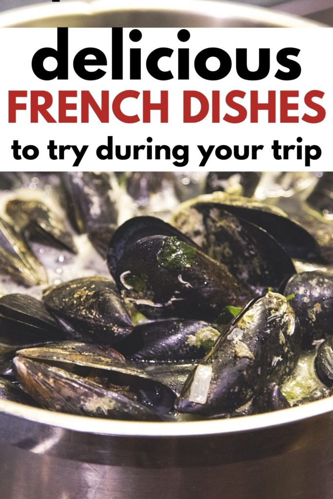 Delicious French dishes