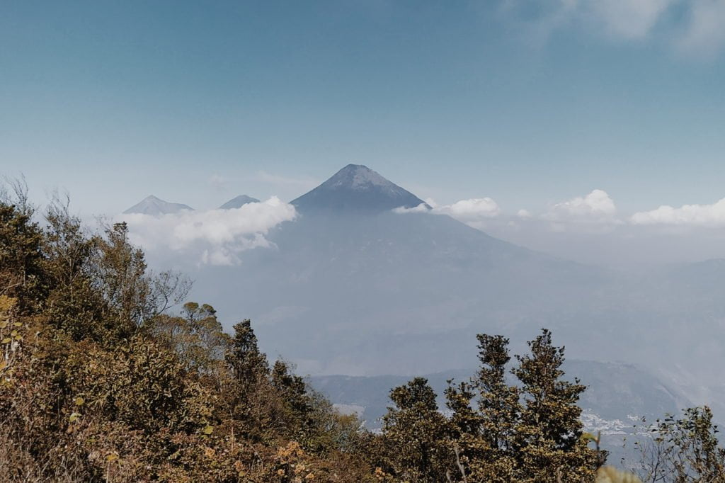 Volcanoes near Antigua