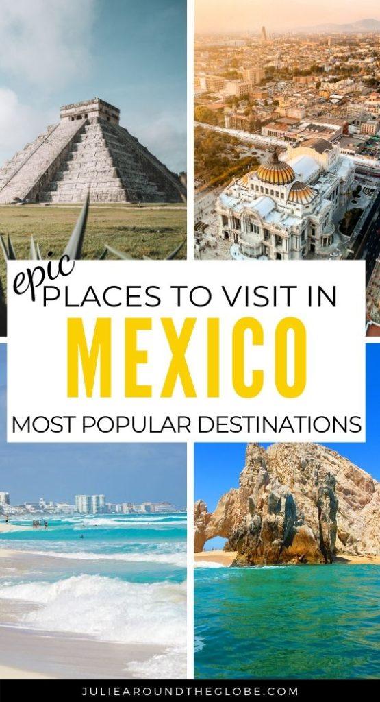 Most popular Mexican destinations
