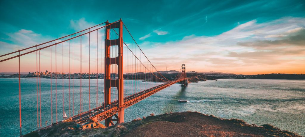 San Francisco, romantic getaway in the USA