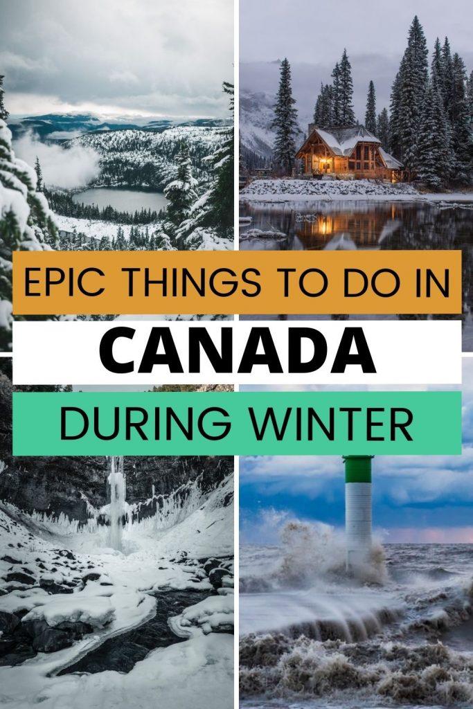 Canada Bucket list winter activities