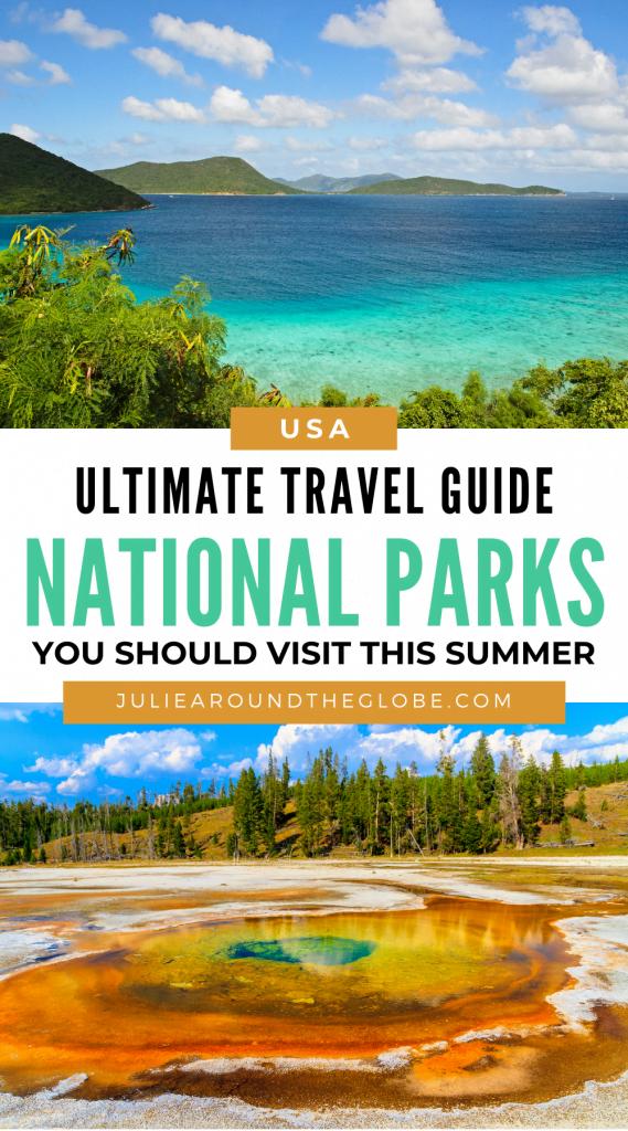 best US national parks in summer